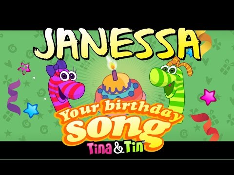 Tina&Tin Happy Birthday JANESSA (Personalized Songs For Kids) #PersonalizedSongs