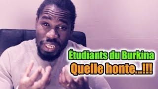 Étudiants du Burkina Faso ⛔ La honte du continent