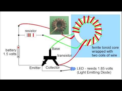 furthermore Nocturnal Solar Light Bulb furthermore Watch as well Cell Phone Charger Using 15V Battery Circuit furthermore Led Circuit Diagram Joule Thief. on joule thief aa battery led circuit