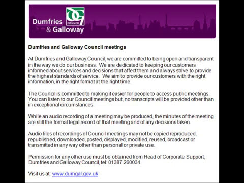 Audio of Dumfries and Galloway Council Full Council Committee - 26 June 2014