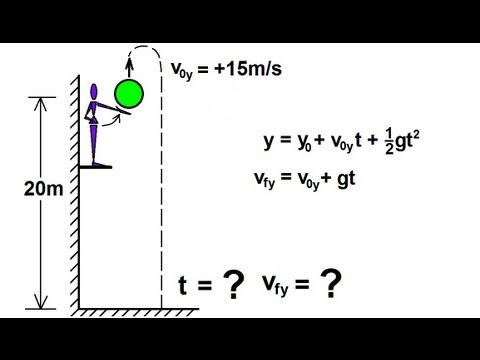 Physics - Mechanics: Motion In One-Dimension (16 of 22) Free Fall: Ex. 3: Finding Velocity and Time