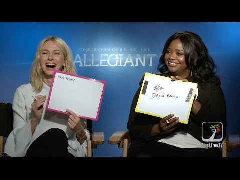 The Divergent Series Allegiant Interview w/ Naomi Watts and Octavia Spencer