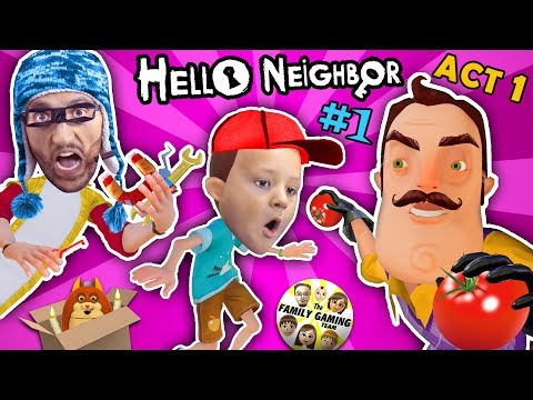 HELLO NEIGHBOR ACT 1 w/ FGTEEV HOBO JIM! NEW SECRETS in BASEMENT! FINAL FULL GAME (#1)