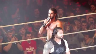WWE LILLE 2017- Seth Rollins/Roman Reigns vs Bray Wyatt/Samoa Joe [Main Event]