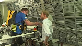 Prince Harry surprises double amputee training for endurance race