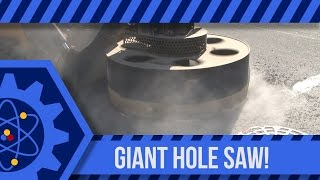 Giant Hole Saw in Front of the Lab