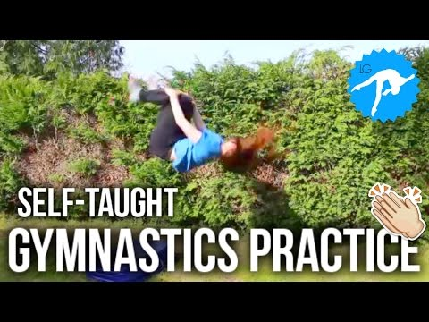 Self-Taught Gymnastics Practice Montage