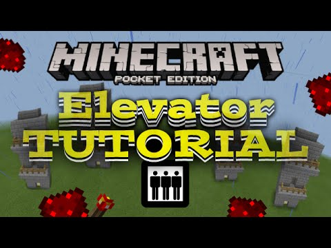 elevator in Minecraft PE TUTORIAL - MCPE Redstone creation