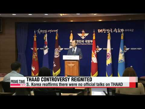 Controversy over possible THAAD deployment to S. Korea reignited   한미 ″케리 방