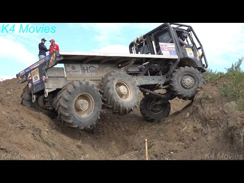 6x6 MAN, Mercedes, Steyr, Ural truck Off Road in Europa truck trial, truck show at Dreis-Bruck 2019