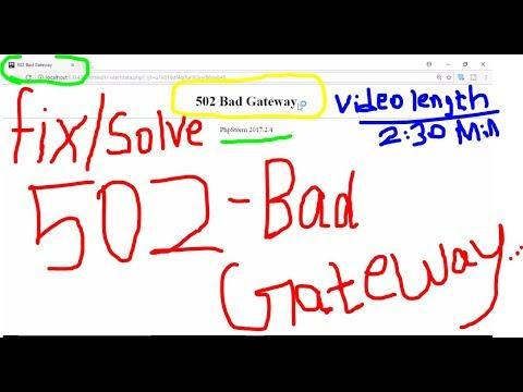 how to fix 504 bad gateway