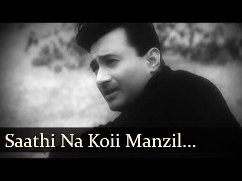 Bombai Ka Babu - Saathi Na Koii Manzil Diya Hai - Mohd Rafi video