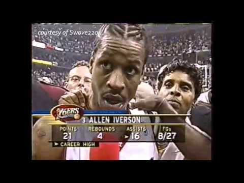 SPECIAL MOMENTS: Allen Iverson 2001 NBA Playoff Game 7 vs Raptors