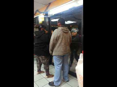 Angry Black Woman vs. Mexican Guy at Church's Chicken.