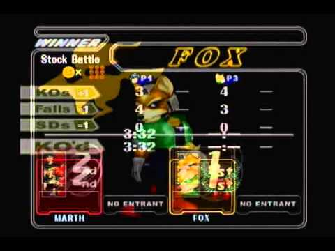 SWEET XII - Mew2King (Marth, Mewtwo) vs Duck (Fox)