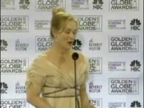meryl talking about her globe win Video