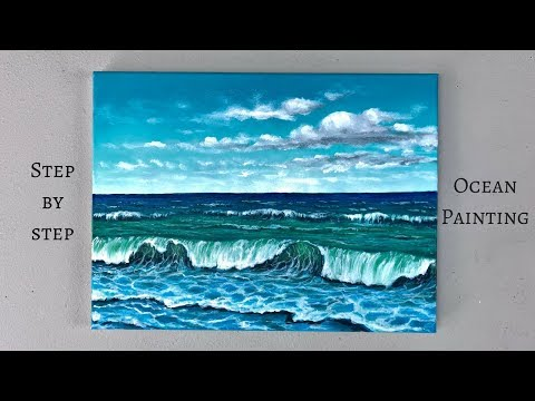 ColorbyFeliks: Step by Step Ocean Painting Using Acrylics