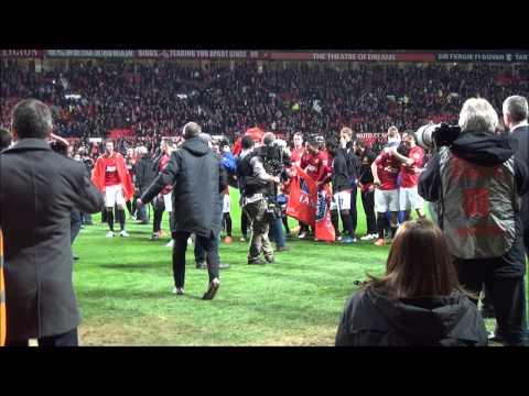 Champions 20, Final Whistle Players & Fan Celebrations, David De Gea Embraces the Crowd 22.04.13