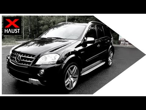 Mercedes-Benz ML 63 AMG Exhaust Sound 0-100 kmh & Fly By