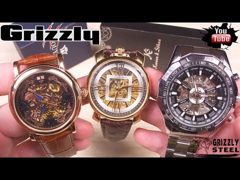 Механические китайские часы с AliExpress 3 посылки Обзор РАСПАКОВКА