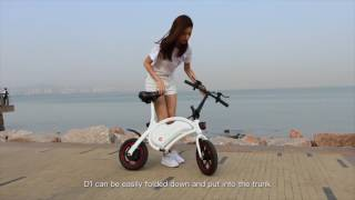 wheel DYU 12 inch Wheels Smart Portable Folding Electric Bike  -
