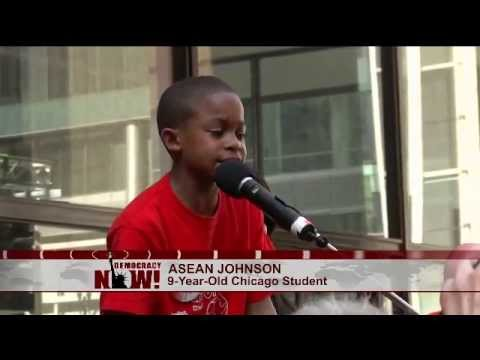 Chicago 3rd Grader Asean Johnson Denounces Mayor Rahm Emanuel For Mass School Closures video