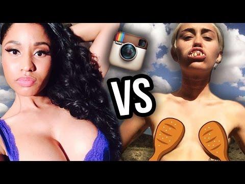 Miley Cyrus VS Nicki Minaj – Most Scandalous Instagram of 2014