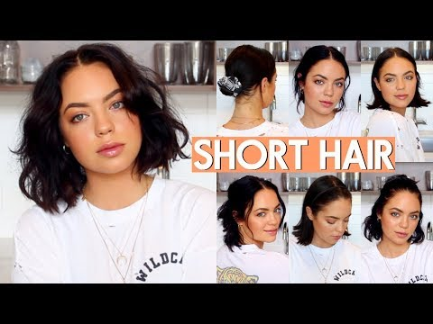 HOW I STYLE MY SHORT HAIR! (VERY EASY) - YouTube