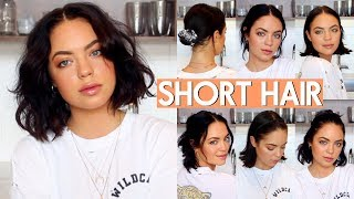 HOW I STYLE MY SHORT HAIR! (VERY EASY)