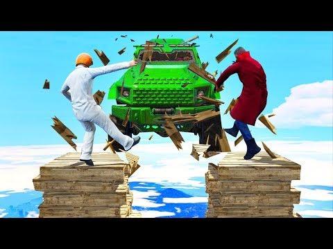 Машины VS Разрушающегося моста!!! (Gta 5 Online Мини игры)