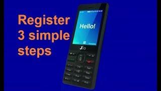 Jio phone registration Process online