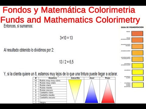 fondos y matematica colorimetria funds and mathematics