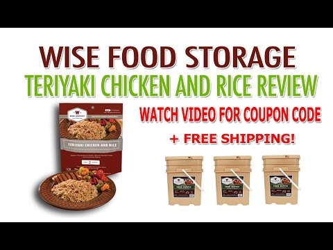 Wise Food Storage Review & Coupon - Wise Company Teriyaki Chicken And Rice