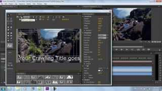 How to Make Crawling Titles in Adobe Premiere Pro CS6