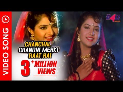 Chanchal Chanchal Mekhti Raat Hai   Full Song   Jaan Se Pyaara   Govinda, Divya Bharti   HD