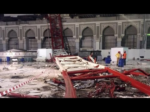 Mecca Crane Collapse: People Dead in Saudi Arabia Mosque - YouTube