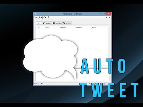 Twitter Bot - Auto Tweets(Send Out Mass Tweets) [Powerd By Dopebotz.com]