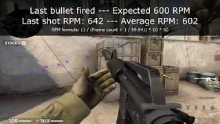 CS:GO Rate of Fire Testing - Rate of Fire Patterns and Variance Found