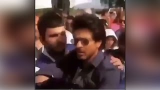Shahrukh Khan gets angry, pushes away fan in Amsterdam-watch video |Filmibeat
