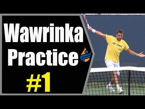 Stan Wawrinka Practice Session #1 (Cincinnati 2014 1080p HD)