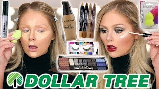 FULL FACE OF DOLLAR TREE MAKEUP | DOLLAR STORE MAKEUP CHALLENGE