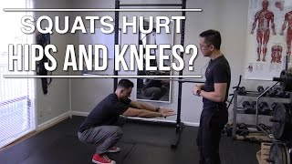 Squats hurt the hips and knees? Direct fixes for your form