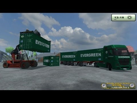 LS 13, Tutorial  Container Mod by N.A.S , entladen