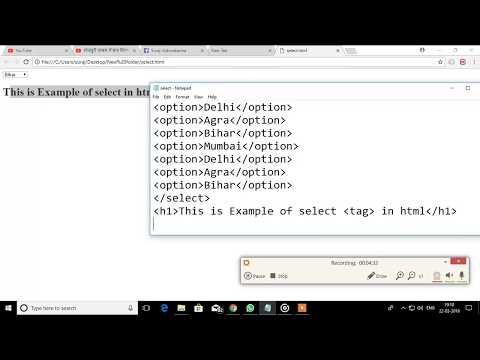 HTML SELECT TAG WITH EXAMPLE