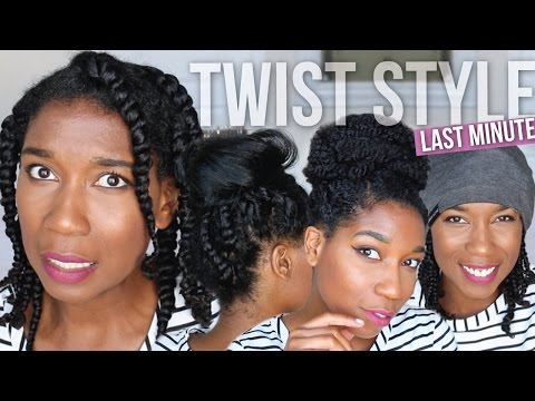 LAST MINUTE FIX   Styling Bedtime Two Strand Twists - Easy Protective Styles