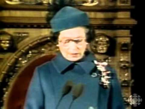 Queen's speech on the canadian constitution