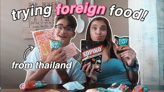 TRYING FOREIGN FOOD (ft. my brother)