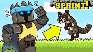 Minecraft: SPRINTING SIMULATOR! (GAIN POWER UPS, MONEY, & PETS!) Modded Mini-Game