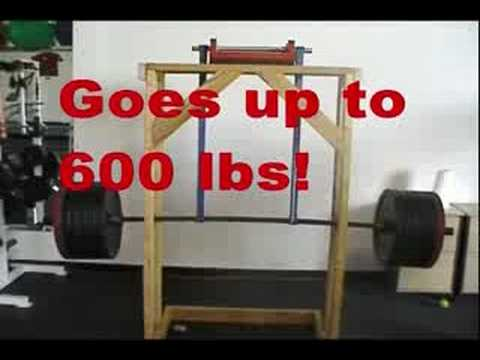 Homemade squat machine images for Homemade safety squat bar