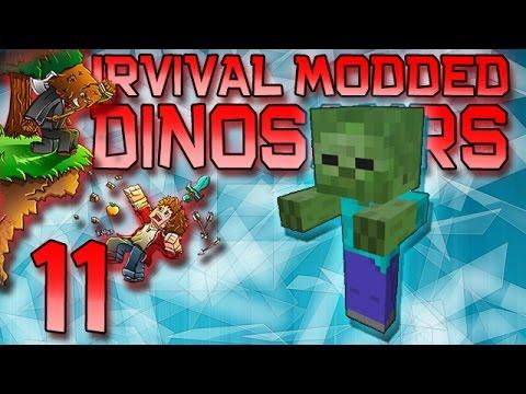Minecraft: Modded Dinosaur Survival Let's Play w/Mitch! Ep. 11 - Kathy The Friendliest Zombie!